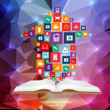 Abstract creative concept vector siluet hands of icons. For web and mobile applications  on background Stock Images