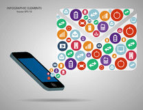 Abstract creative concept vector siluet hands of icons. For web and mobile applications isolated on background Stock Photo
