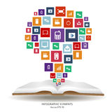 Abstract creative concept vector siluet hands of icons. For web and mobile applications isolated on background Royalty Free Stock Photos