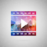 Abstract creative concept vector. For web and mobile content  on background, unusual template design, flat. Abstract creative concept vector icon of filmstrip Royalty Free Stock Photos