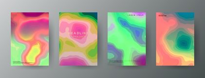 Abstract, creative cover concepts collection. vector illustration