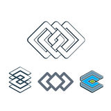 Abstract creative design elements vector collection, abstract bu Stock Images