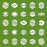 Abstract creative design elements vector collection, abstract bu Royalty Free Stock Photos