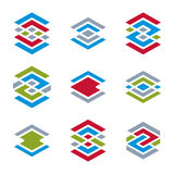 Abstract creative design elements vector collection, abstract bu Royalty Free Stock Photo