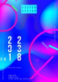 Abstract creative design poster with fluid colorful gradient. Template futuristic cover. Flat vector illustration EPS 10.  vector illustration