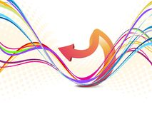 Abstract   creative design  wave background Stock Image