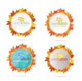 Abstract creative emblem sign set isolated Stock Photo