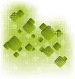 Abstract creative green background with squares Royalty Free Stock Photography