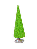 Abstract creative green Christmas tree isolated over white backg Royalty Free Stock Photography