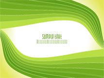 Abstract creative green wave background Stock Photography