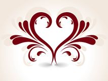 Abstract  creative heart floral Stock Images