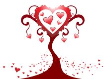 Abstract  creative heart tree design Stock Photography