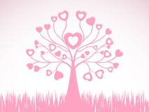 Abstract  creative heart tree design. This image is a  illustration Abstract  creative heart tree design and grass Royalty Free Stock Photos
