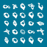 Abstract creative icons vector collection, business Royalty Free Stock Photo