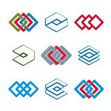 Abstract creative icons vector collection Stock Image