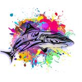 Abstract creative illustration with Abstract image of a shark logo