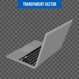 Abstract creative Laptop. Isolated mockup on background. Isometric 3D style template. For web and mobile app clipart art Royalty Free Stock Photography