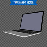 Abstract creative Laptop. Isolated mockup on background. Isometric 3D style template. For web and mobile app clipart art Royalty Free Stock Photos