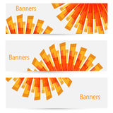 Abstract creative light banners Stock Photos