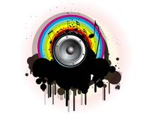 Abstract creative music notes design. Vector image illustration rainbow wave Abstract creative music notes design royalty free illustration