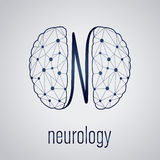 Abstract creative neurology concept with human brain Stock Photography