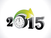 Abstract creative new year text with clock Royalty Free Stock Images