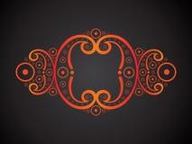 Abstract creative orange floral border. Vector illustration Stock Image