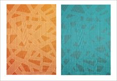 Abstract creative pattern background. Abstract creative pattern with textile texture background Royalty Free Stock Photos