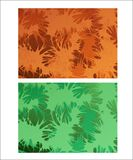 Abstract creative pattern background. Two color variations, the orange one - with gunge texture Stock Image