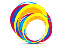 Abstract creative rainbow splash circle Royalty Free Stock Image