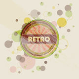 Abstract creative retro labels background Stock Photos