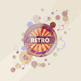 Abstract creative retro labels background Stock Photo
