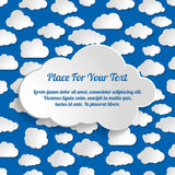 Abstract Creative seamless concept clouds collection on a Stock Photography