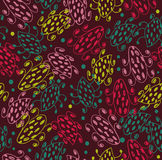 Abstract creative seamless pattern. Background with hand drawn linear details. Microbes. Indian colorful ornament Royalty Free Stock Photo