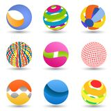 Abstract creative spheres Stock Image