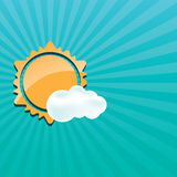 Abstract creative sun design  illustration Royalty Free Stock Images