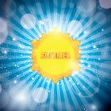 Abstract creative sun design vector illustration Royalty Free Stock Photos