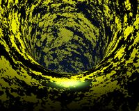 Abstract creative techno tunnel Stock Image