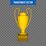 Abstract creative trophy cup. Isolated mockup on background. Isometric 3D style template. For web and mobile app clipart. Art. Concept idea design element Royalty Free Stock Photo