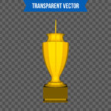 Abstract creative trophy cup. Isolated mockup on background. Isometric 3D style template. For web and mobile app clipart. Art. Concept idea design element Stock Photography