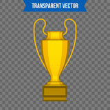 Abstract creative trophy cup. Isolated mockup on background. Isometric 3D style template. For web and mobile app clipart. Art. Concept idea design element Royalty Free Stock Photos