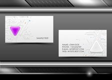 Abstract creative vector business cards Stock Photos