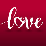 Abstract creative vector design layout with lettering - love. Handwritten calligraphy poster. Royalty Free Stock Images