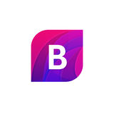 Abstract creative web icon company B sign letter logo vector des Royalty Free Stock Image