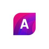 Abstract creative web icon company A sign letter logo vector des Royalty Free Stock Photos