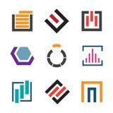 Abstract creativity for professional logo company icon set Royalty Free Stock Photo