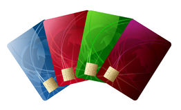 Abstract credit card Stock Photography
