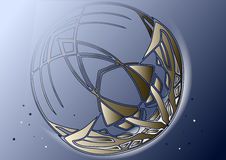 Abstract crescent moon Stock Photography