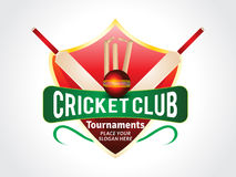 Abstract cricket background with shield Stock Image