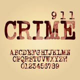 Abstract Criminal Alphabet and Digit Vector royalty free illustration
